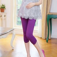 Wholesale Maternity Clothes Maternity Pants Hold Up Abdomen Soft Maternity Leggings Cotton Modal Clothes for Pregnant Women Candy Colors