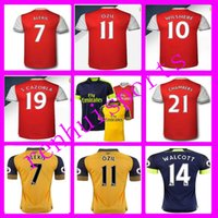 Wholesale Arsenal Jerseys Shirt WILSHERE OZIL WALCOTT RAMSEY ALEXIS Wholesalers Jersey home away Thailand quality rugby