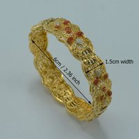 africa egypt - 6CM Arab Bracelet Women K Gold Plated Middle East Bangle Jewelry Dubai India Egypt Turkey Iraq Iran Syria Africa Item A12