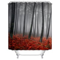 autumn shower curtains - Customs W x H Inch Shower Curtain Tree Autumn Waterproof Polyester Fabric Shower Curtain