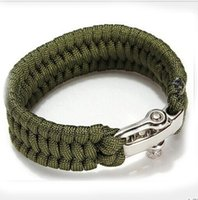 Wholesale Outdoor camping survival gear fashion woven bracelet bracelet survival bracelet adjustable quick release buckle safe means of