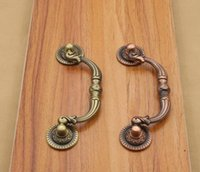 Wholesale Zinc Alloy Knobs Arch Tracery Bronze Tone Handle For Drawer Wooden Jewelry Box Furniture Hardware