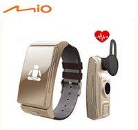 Wholesale Perfect Original Uwatch U20 Umini Smart wristband Bracelet watch Earphone headset MTK2502 Heart Rate Monitor Bluetooth Fitness Tracker
