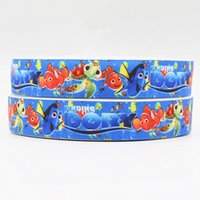 printed grosgrain ribbon - ribbon inch mm cartoon finding dory webbing printed grosgrain ribbon yards roll for headband hair tie