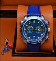 best discount watches - Discount Luxury brand blue sports chronograph limited Watch Professional Planet Ocean Co Axial Dive Wristwatch best rubber clasp Men Watches