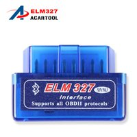 Wholesale 2016 Latest Version Super Mini ELM Bluetooth V2 OBD2 Scanner ELM327 OBD Car Diagnostic Interface mini bluetooth elm327
