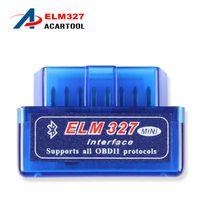 al por mayor interfaz de diagnóstico obd2 coche del explorador-2017 última versión Mini ELM 327 Bluetooth V2.1 OBD2 explorador ELM327 OBD 2 mini interfaz bluetooth de diagnóstico del coche elm327