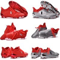 Wholesale 2016 New Soccer Shoes X Purechaos FG AG soccer boots Pure Control Football Shoes Soccer Cleats Boots