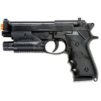 airsoft guns laser - AIRSOFT SPRING HAND GUN PISTOL M9 FS BERETTA AIR w LASER SIGHT mm BB BBs