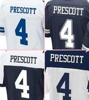 Wholesale Stitched NIK Cowboys Draft football jerseys New jerseys Dak PRESCOTT blue white thanksgiving day freeshipping drop shipping