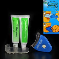 Wholesale professional White Teeth Whitening Tooth Gel Whitener Health Oral Care Kit For Personal Dental Treatment brightening Light