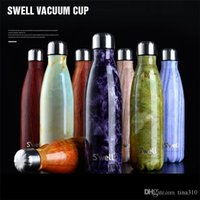 Wholesale Fashion S well Bottles Stainless Steel Vacuum Flask Cups Swell Sports Mug ml Hot Cool Drinking B0812