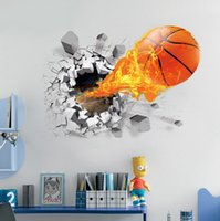 basketball room decor - Wall Stickers D Basketball Soccer Wall Stickers Background Home Decor for Kids Rooms Decorative Wall Art Removable PVC