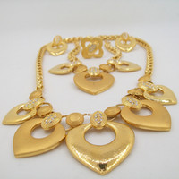 anniversary gift items - Cheap Jewelry High Quality Bridal Jewelry Sets Fashion Necklace Jewelry Sets Gold Plated Item For
