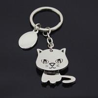Wholesale cat keychain cute key ring for women high quality llaveros key finder creative chaveiro portachiavi