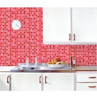 bathroom mosaic tile designs - Brand Classic Mosaic sticker Bathroom cm m toilet Wall Stickers pvc Waterproof Tile Stickers For Kitchen