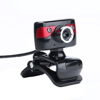 Wholesale USB Megapixel HD Camera Webcams Degree with Microphone Clip on Webcam for Desktop Skype Computer PC Laptop New