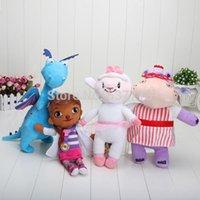 Wholesale 100pcs cm Doc McStuffins doll plush toys McStuffin Lambie sheep Hallie The Hippo Dragon cute plush animals dolls