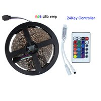 Wholesale RGB DC12V LED strip flexible tape non waterproof with mini key remote controller decoration led lighting