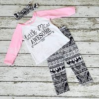 baby girl missing - NWT Cute Cartoon Baby Girls cotton Outfits Summer piece Sets Boy Cotton Tops Shirts Harem Pants Little Miss Awesome