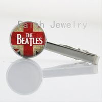 bands lyrics - Rock Band jewelry The Beatles Lyrics tie clips trendy silver plated music Quote Necktie Bar Clasp Clamp Pin party gifts NS134