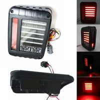 Wholesale 1Pair quot X quot Wrangler LED Rear Taillights Plug Play Installation Led Tail light For J eep Wrangler JK