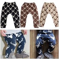 Wholesale 2016 pieces Kids Baby Boys Girls Deer Bottom Pants Leggings Harem Pants Trousers Casual T
