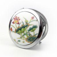 Wholesale Jindezhen Ceramics Nation Wind Folding ROYAL QUEEN Mirror A Piece Of Group Diameter cm Exhibition Makeup Compact