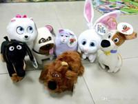 babies dogs - Quality The Secret Life of Pets plush toys CM cartoon Stuffed Animals toys for Kids baby Wool dolls Rabbit dog Cartoon free EXPRESS