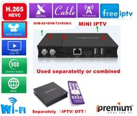 Wholesale Set Top Box Tv Tuner - Best ipremium H.265 IPTV   Set Top Box including 10000+ free channels combine Android box with DVB-S S2 DVB-T T2 DVB-C