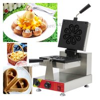 Wholesale Commercial fluid drop shape waffle baker with adjustable thermostat specifically designed eight petals waffle machine non stick cooking surf