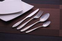 Wholesale stainless steel gold pattern mirror polish fork spoon knife ice cream spoon tableware fllatware