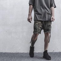 Wholesale mens shorts camouflage hip hop cross pants kanye west style sport shorts summer casual military harem sports wear