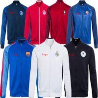 Wholesale 2016 new soccer winter coats long sleeve athletic football jackets men Soccer hoodies Real Madrid Arsenal Chelsea Paris soccer coats