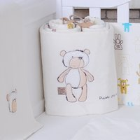 Wholesale 2016 HOT baby bedding set cotton crib bumper baby cot sets baby bed bumper