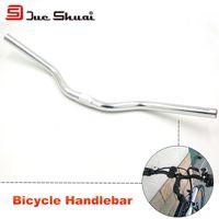 bend aluminum tube - E Bike Handlebar Silver Color Mirror Aluminio Frame Stem Tube Holder Scooter Handlebar Extension Bent Bar Moto Grip Accessory
