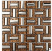 Wholesale The mosaic backdrop of modern Chinese TV wall in the living room wall tiles are brown wine