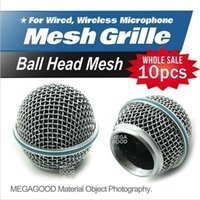Wholesale microfono Professional Replacement Ball Head Mesh Microphone Grille Fits For Wired microphone SM S A