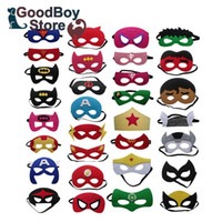 Wholesale 10pcs Halloween Many Design Boys and Girls Cosplay Kids Festival Party Superhero Children Party Masks
