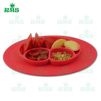 Wholesale Happy bowl food grade silicone baby placemat happy bowl smile face mat DHL free fast ship S
