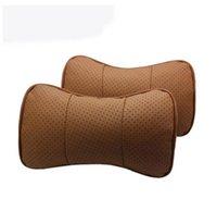Wholesale Audi A4L A3A1 A5 A4 A6L A8 Q3 Q5 Q7 TT leather headrest A neck pillow health care pillow