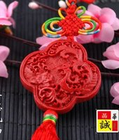 Wholesale Beijing carved lacquer gift Chinese knot pendant car pendant Chinese style lacquer Christmas Gifts Lacquer carving handicraft