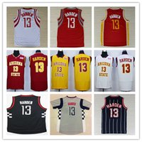 arizona grey - Cheap James Harden Uniforms Shirts Black Grey White Yellow Red Arizona Stata Sun Devils Harden College Jerseys Stitched