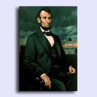 abraham painting - Hand painted modern wall art home decorative abstract oil painting on canvas United States of America Abraham Lincoln x36inch Unframed