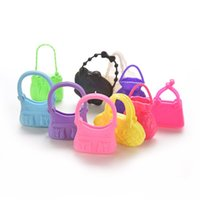 Wholesale 10 Mix Styles Colorized Fashion Morden Doll Bags Accessories Toy For Barbie Doll Birthday Xmas Gift Cute Dolls Accessories
