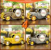 Wholesale Vintage Archaize Car Design Alarm Clock with Pen Pencil Holder Handicraft Desktop Gifts Home Decoration Classic Portable Clock