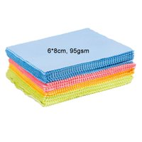 Wholesale 6 cm gsm Hand Towel Cleaning Cloths for LCD LED Tablet Phones Computer Laptop Glasses Lens Eyeglasses Wipes Dust Washing Cloth YJB002