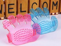 Wholesale Pet Dog Cat Combs Cleaning Massage Bath Fingers Glove Dog Crystal Bath Brush Pet Grooming Tool Wash Head Massage Brush