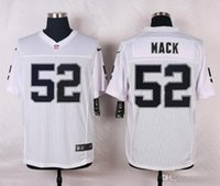 Wholesale 52 Mack New Arrivals Men Raiders White Elite Stitched Jerseys Free Drop Shipping lymmia Mix order