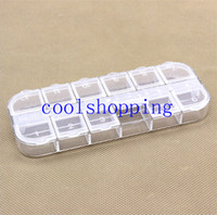 Cheap New Nail Art 12 Empty Compartment Plastic Storage Box Earring Jewelry Bin Case Container Sewing box